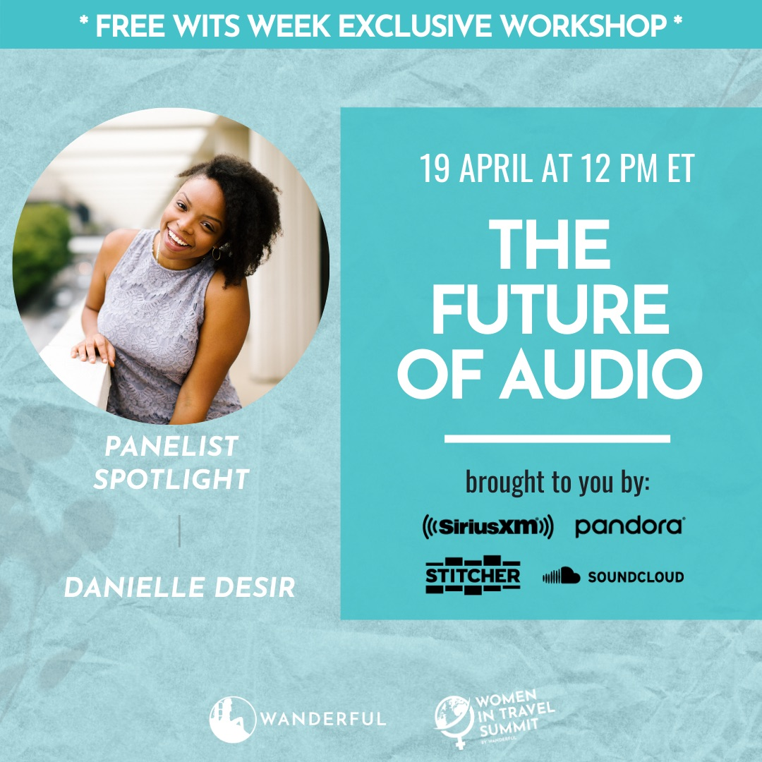 Danielle Desir speaking at WITS Week Future of Audio Workshop with Pandora.